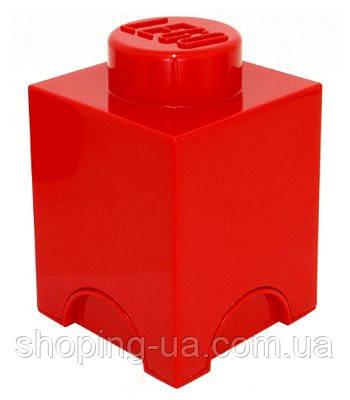 Одноточечный красный контейнер для хранения Lego PlastTeam 40011730