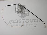 Фидерный  монтаж кормушка металл120г, противозакручиватель, крючок СHINU-R №8 Корея с поводком из лески 0,22мм