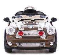Детский электромобиль Mini Cooper JE 118 с р/у коричневый  Metr+