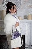 Кожаная сумочка с вышивкой бисером и натуральными камнями, фото 6
