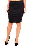 Юбка Француженка короткая (3цв), юбка прямая, юбка до колена, черная юбка, для офиса, для школы, дропшиппинг