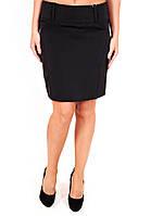 Юбка Мемори, юбка прямая, юбка выше колена, черная юбка, для офиса, для школы, дропшиппинг