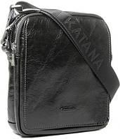 Удобная мужская кожаная сумка через плечо Katana k89104-1 черный
