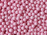 Декоративные жемчужины — Розовые матовые Ø5 - 200 г