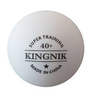 Пластиковые бесшовные мячи для настольного тенниса Kingnik super training 40+