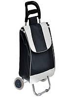 Тачка сумка с колесиками кравчучка 95см E00317 Black