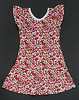 Платье для девочки в цветы 16-4