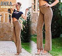Оригинальные женские брюки клёш, с завышенной талией