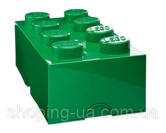 Восьми точечный зеленый контейнер для хранения Lego PlastTeam 40041734, фото 2