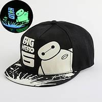 Cветящаяся  черная кепка BIG HERO
