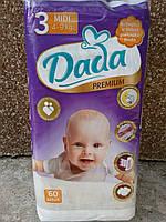 Детские подгузники DADA премиум 3-ка  4-9 кг. 60шт.