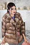 """Полушубок из светлой куницы """"Анна"""" marten fur coat jacket, фото 4"""