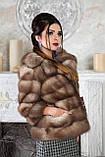 """Полушубок из светлой куницы """"Анна"""" marten fur coat jacket, фото 6"""