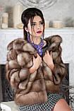 """Полушубок из светлой куницы """"Анна"""" marten fur coat jacket, фото 7"""
