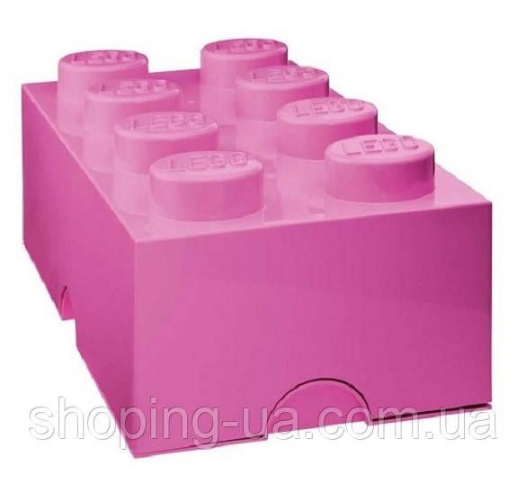 Восьми точечный розовый контейнер для хранения Lego PlastTeam 40041739