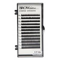 Волоски черные BROW BOOM, 0.07 мм