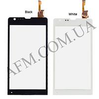 Сенсор (Touch screen) Sony C5302 M35h Xperia SP/  C5303 M35i Xperia SP белый оригинал