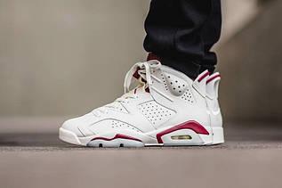 """Кросівки чоловічі Nike Air Jordan 6 """"Maroon"""" / AJM-461 (Репліка)"""