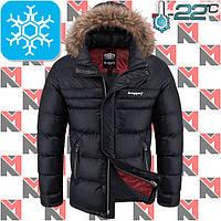 Зимний мужской пуховик - 2-3702 черный