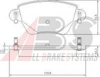 Тормозные колодки дисковые задние A.b.s. на Renault Kangoo