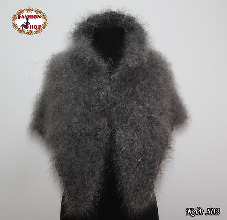 Оренбургский кудрявый пуховый платок-косынка Беатриса 110см х 85см, фото 2