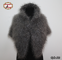 Оренбургский кудрявый пуховый платок-косынка Беатриса