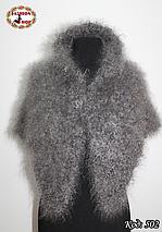 Оренбургский кудрявый пуховый платок-косынка Беатриса 120х90, фото 3