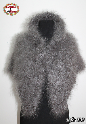 Оренбургский кудрявый пуховый платок-косынка Беатриса 130х90, фото 2