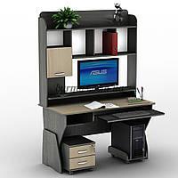 Компьютерный стол регулируемый по высоте СУ-24, дуб молочный+ венге магия