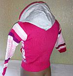 Кофточка для дівчинки з капюшоном, фото 2
