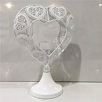 Подсвечник сердце на подставке, фото 1