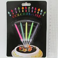 """Набор свечей для торта 5шт """"Цветное пламя"""""""