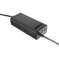 Адаптер питания trust duo 70w laptop charger с 2 usb портами (20877)