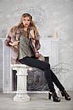 """Полушубок жилет из золоченой чернобурки """"Рита"""" silver fox fur coat jacket vest gilet, фото 2"""