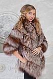 """Полушубок жилет из золоченой чернобурки """"Рита"""" silver fox fur coat jacket vest gilet, фото 3"""