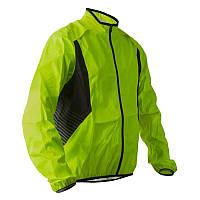 Куртка мужская велосипедная, ветрозащитная Btwin 500 желтая