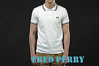 """Футболка """"Fred Perry"""", белая, С,М,Л,ХЛ"""