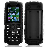 Противоударный телефон с огромной батареей! Xiaocai X6 black-black - Мощный фонарь, 2 SIM, 5000 mAh. оригинал