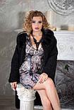 """Шуба из черного каракуля """"Зарина"""" karakul jacket coat furcoat, фото 4"""