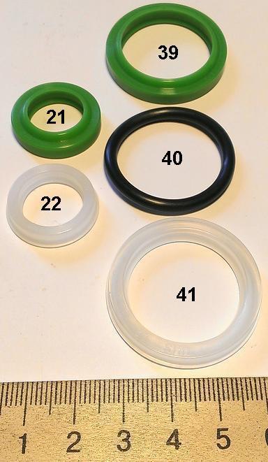 Ремкомплект на роклу DB2000 біло-зелений №5 (Skiper)