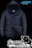 Куртка на меху  мужская Braggart Aggressive - 2712A темно-синяя