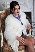 """Полушубок из полярной лисы и тибетского ягненка """"Снежана"""", фото 1"""