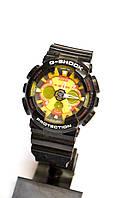 Наручные часы Casio G-Shock GA-200 черные с оранжевым