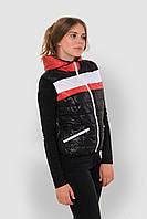 Женская спортивная жилетка из водоотталкивающей ткани на синтепоне с карманами и капюшоном 9094/4, фото 1
