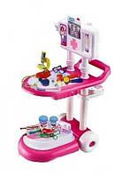 Игровой набор Маленький доктор 13244, тележка, набор инструментов, 16 предметов, 67х47х25 см