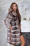 """Шуба полушубок жилет из чернобурки """"Натали"""" silver fox fur coat jacket vest gilet, фото 2"""