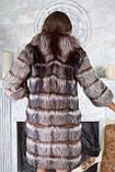 """Шуба полушубок жилет из чернобурки """"Натали"""" silver fox fur coat jacket vest gilet, фото 3"""