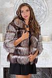 """Шуба полушубок жилет из чернобурки """"Натали"""" silver fox fur coat jacket vest gilet, фото 4"""