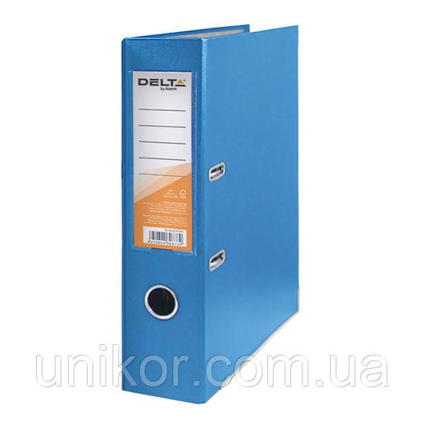 Регистратор 7,5 см., А4 односторонняя, голубой. Delta by Axent