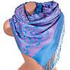Шикарный женский двусторонний палантин из пашмины 160 на 70 см ETERNO ES2707-12-1 голубой